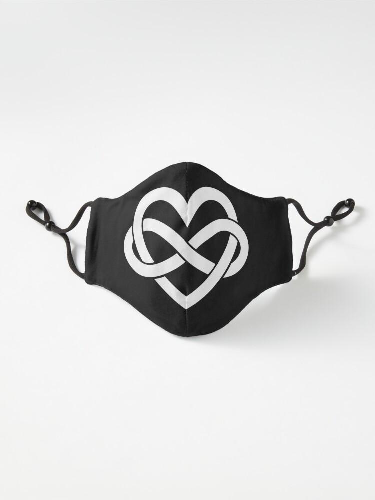 Alternate view of White Polyamory Infinity Heart Mask