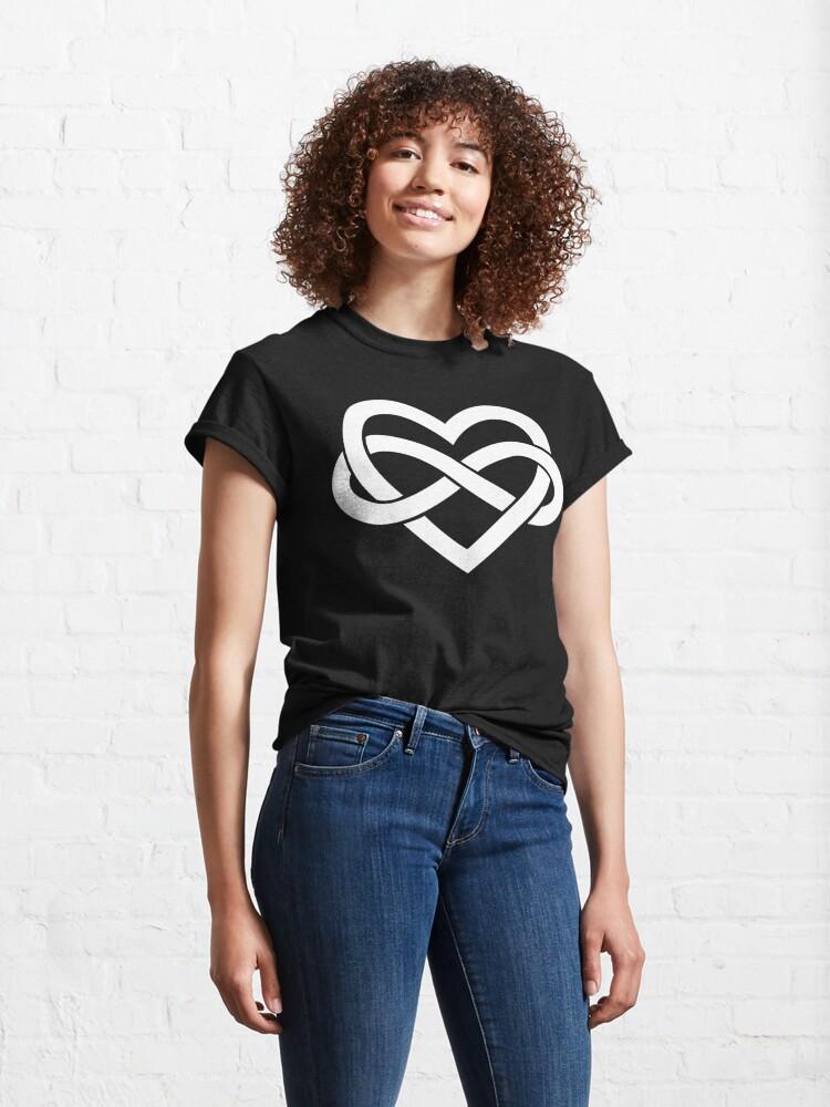 Alternate view of White Polyamory Infinity Heart Classic T-Shirt