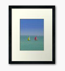 Coloured Sails Framed Print