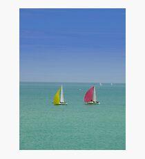 Coloured Sails Photographic Print