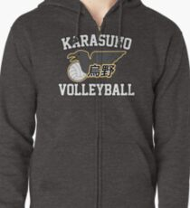 Haikyuu!! / Karasuno Volleyball Tee Zipped Hoodie
