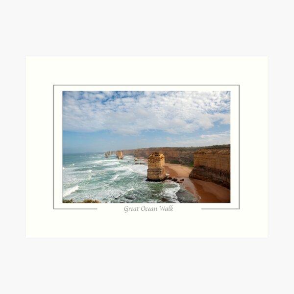 Hiking trail. Great Ocean Walk. Victoria Australia Coast along the Great Ocean  Walk/Road. Twelve Apostles. Art Print