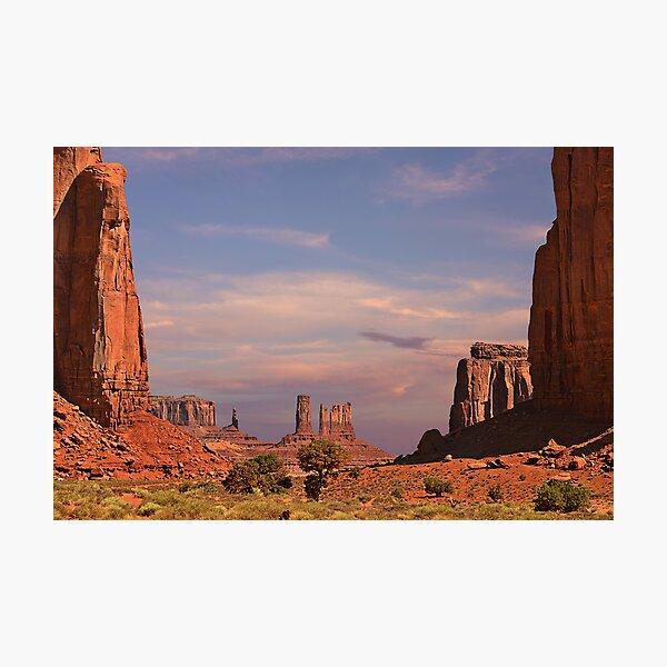 Monument Valley - Mars-like terrain Photographic Print