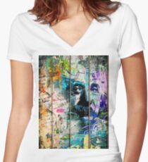 Artistic I - Albert Einstein Women's Fitted V-Neck T-Shirt