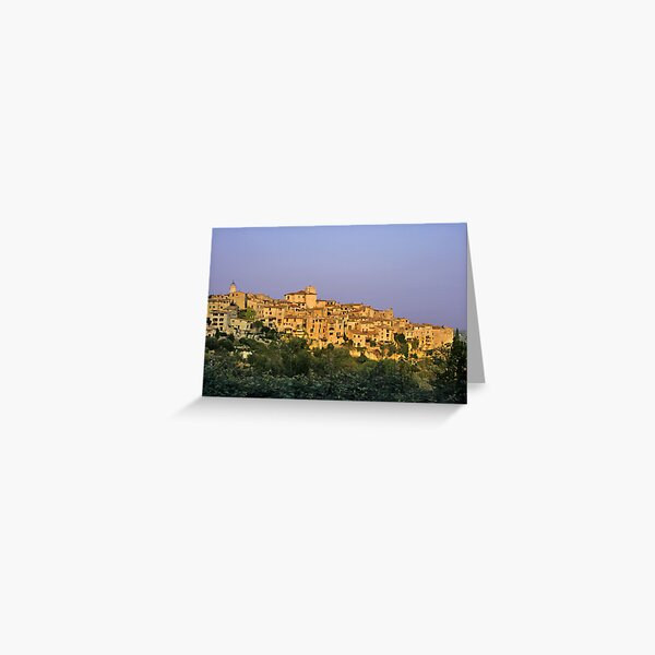 Sunset over Vieux Nice - Old Town - France Greeting Card