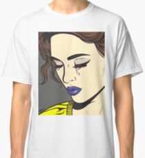 Brunette Crying Comic Girl Classic T-Shirt