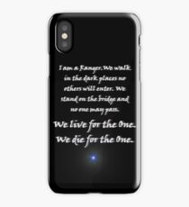 Ranger Oath from Babylon 5 (black background with star) iPhone Case/Skin