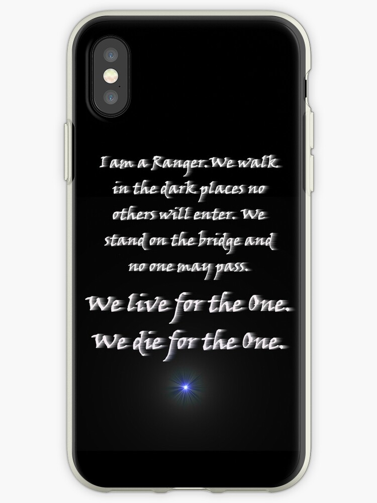 'Ranger Oath from Babylon 5 (black background with star)' iPhone Case by  Mary-Jean