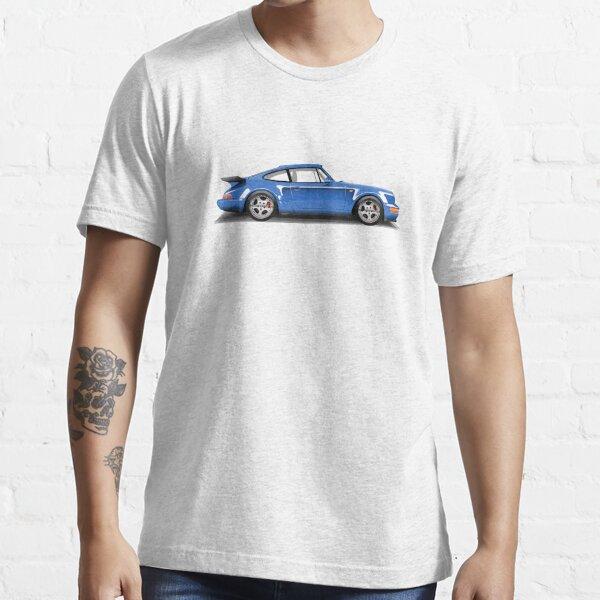 Porsche 911 Turbo (965) (blue) Essential T-Shirt