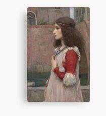 John William Waterhouse - Juliet. Woman portrait: sensual woman, girly art, female style, pretty women, femine, beautiful dress, cute, creativity, love, sexy  Canvas Print