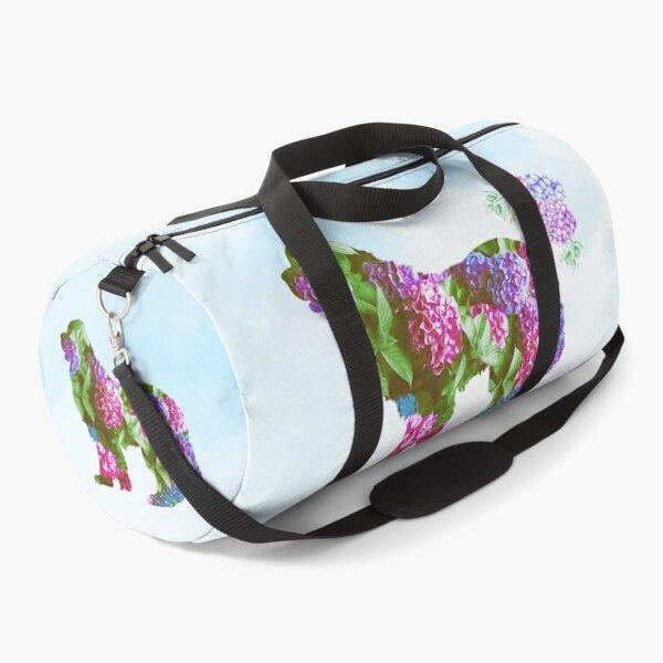 Newfie Hydrangea Design Duffle Bag