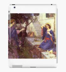 John William Waterhouse - The Annunciation. Woman portrait: sensual woman, girly art, female style, pretty women, femine, beautiful dress, cute,  love iPad Case/Skin