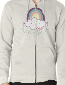 I Love Music Doodle Zipped Hoodie