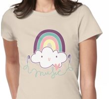 I Love Music Doodle Womens Fitted T-Shirt
