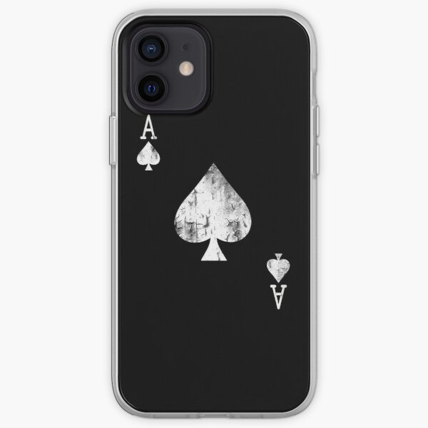 Ace of Spades Vintage Coque souple iPhone