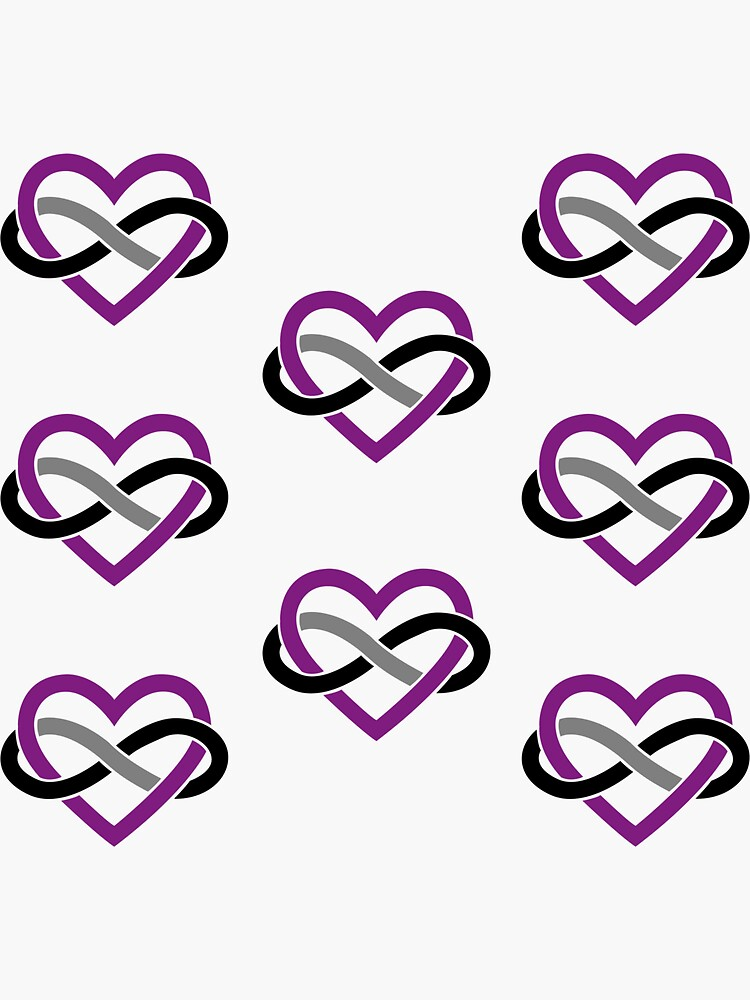 8x Asexual Polyamory Infinity Heart by polyphiliashop