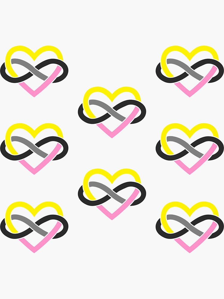8x Queerplatonic Polyamory Infinity Heart by polyphiliashop