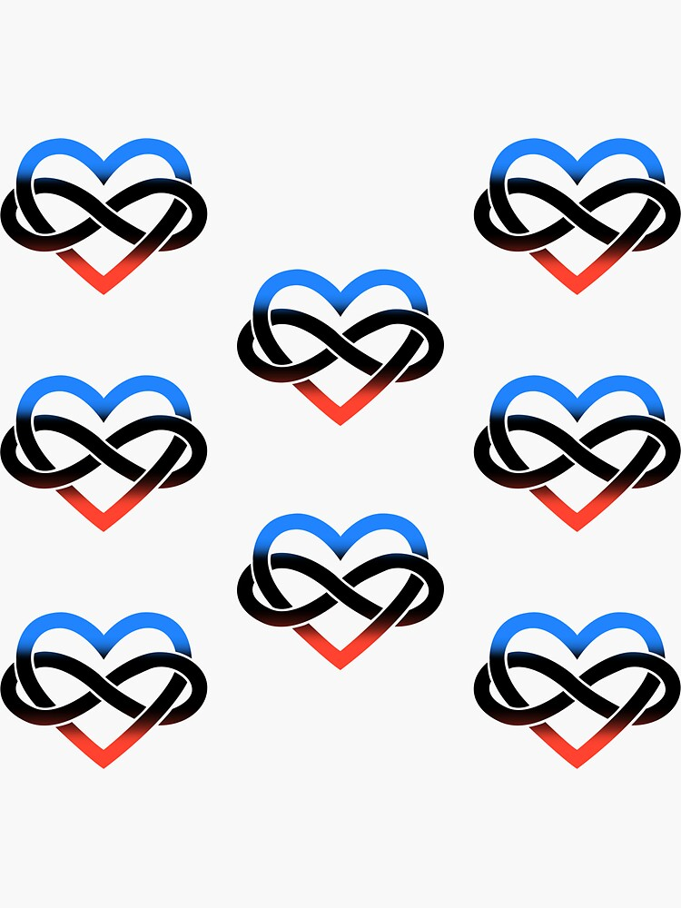 8x Polyamory Infinity Heart by polyphiliashop