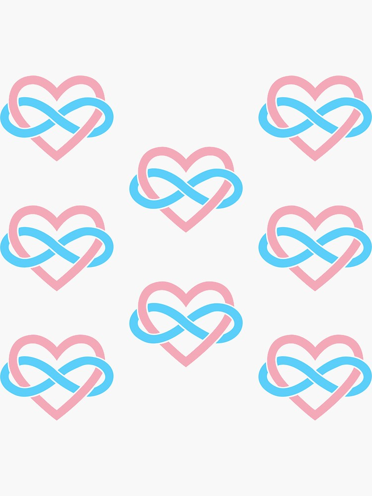 8x Transgender Polyamory Infinity Heart by polyphiliashop