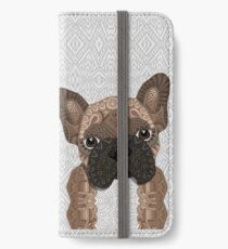 Brown Frenchie Puppy 001 iPhone Wallet/Case/Skin