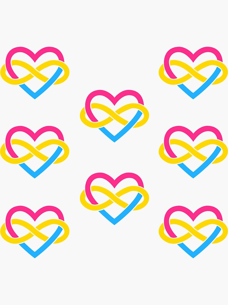 8x Pansexual Polyamory Infinity Heart by polyphiliashop
