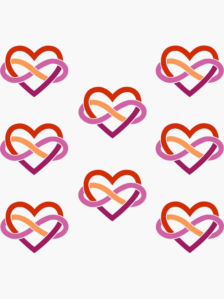 8x Lesbian Polyamory Infinity Heart by polyphiliashop
