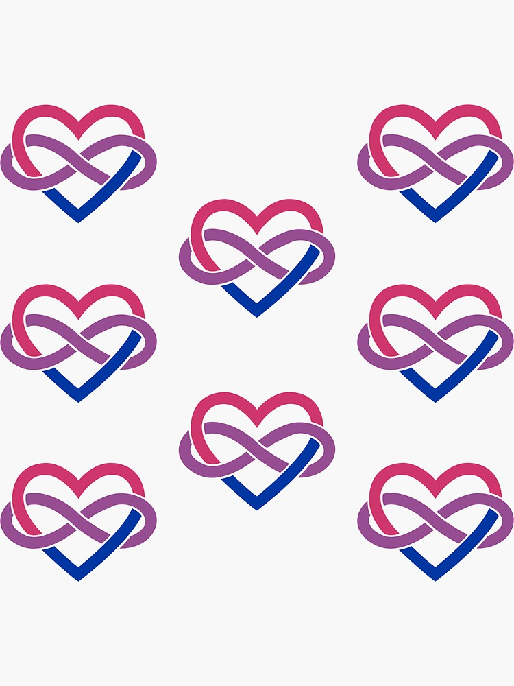 8x Bisexual Polyamory Infinity Heart by polyphiliashop