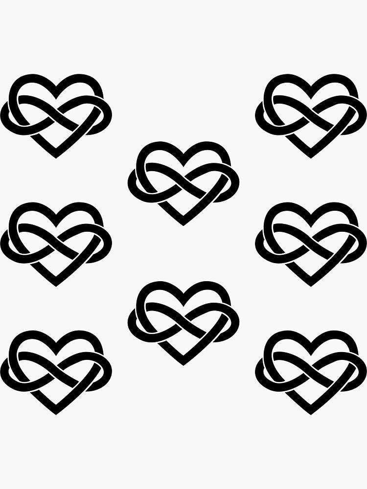 8x Black Polyamory Infinity Heart by polyphiliashop