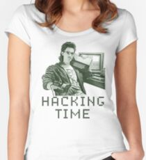 Hacking time Women's Fitted Scoop T-Shirt
