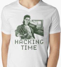 Hacking time Men's V-Neck T-Shirt