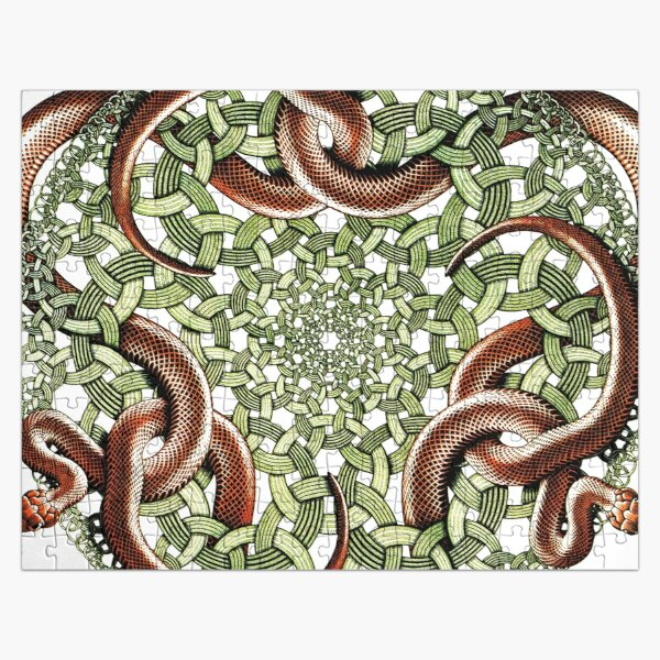 Snakes - red Jigsaw Puzzle