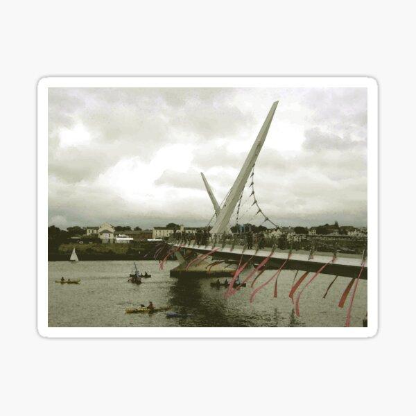 Derry Peace Bridge -  Derry Ireland Sticker