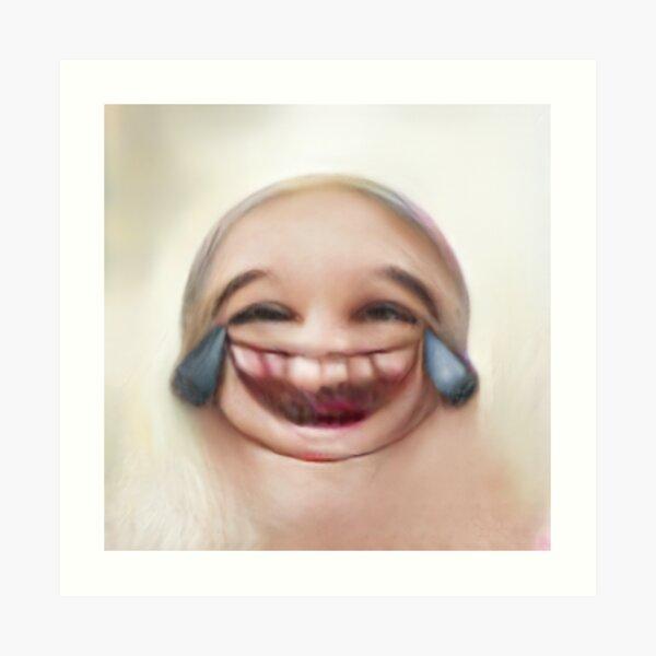 Human Emoji Cry Laughing Art Print