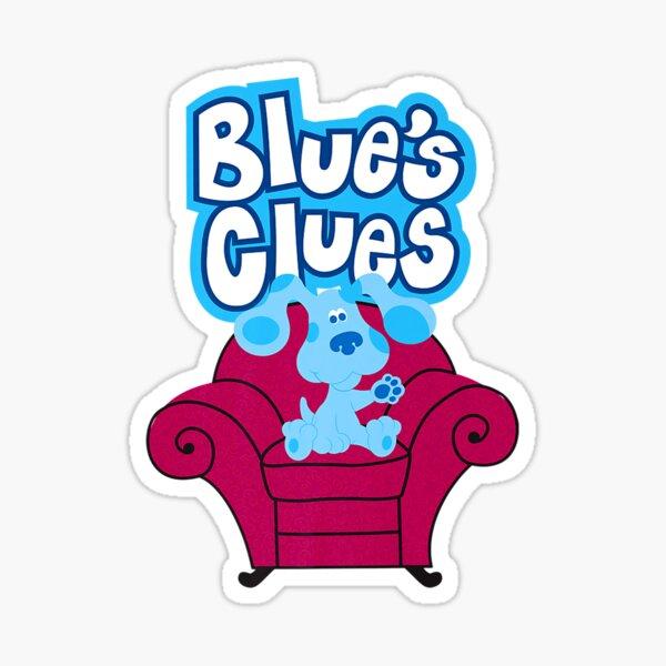 Las pistas de Blue en el sofá rojo Pegatina