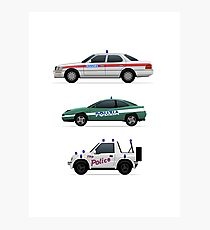 Police car challenge Photographic Print