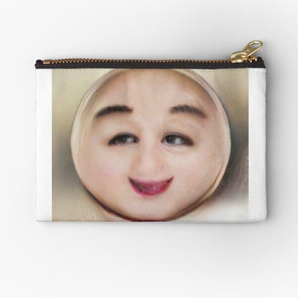 Human Emoji Small Smile Zipper Pouch