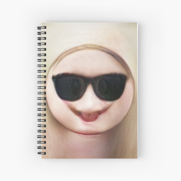 Human Emoji Sunglasses Spiral Notebook