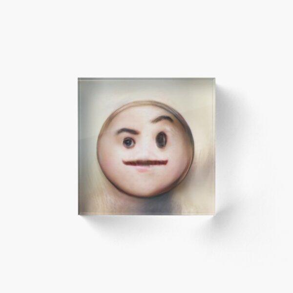 Human Emoji Raised Eyebrow Acrylic Block