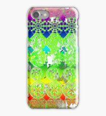 Mandala Spiritual Pyschodelic take on album art on white iPhone Case/Skin