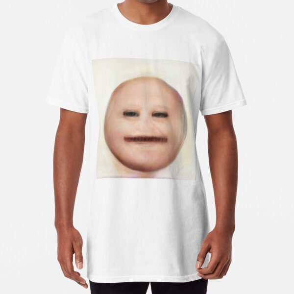 Human Emoji Narrow Eyes Long T-Shirt