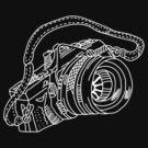 Vintage Camera chalkboard style by vincef71