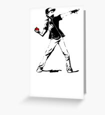 Banksy Pokemon Greeting Card