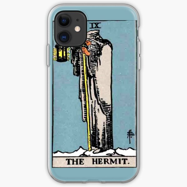 The Hermit Tarot Card  iPhone Soft Case