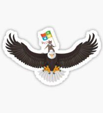 Ninja Cat Eagle Hololens Flag Sticker