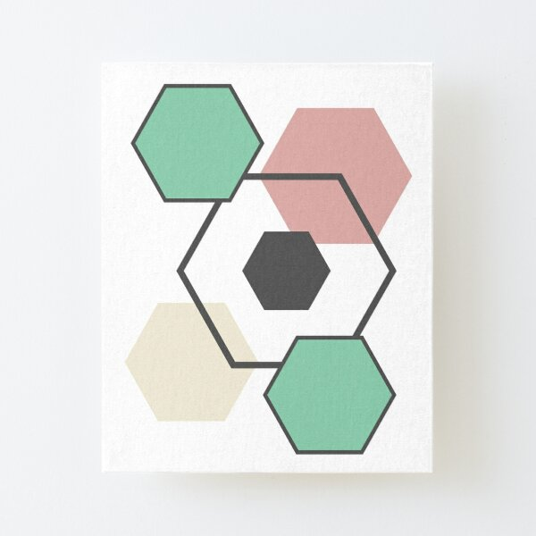 Geometric Abstract  Canvas Mounted Print