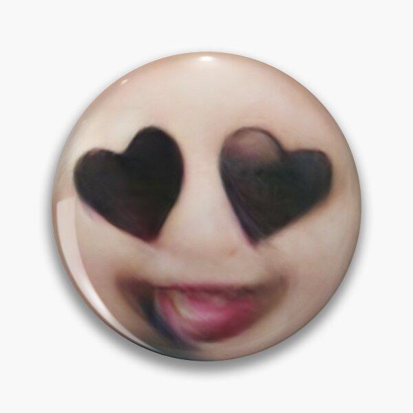 Human Emoji Heart Eyes Pin