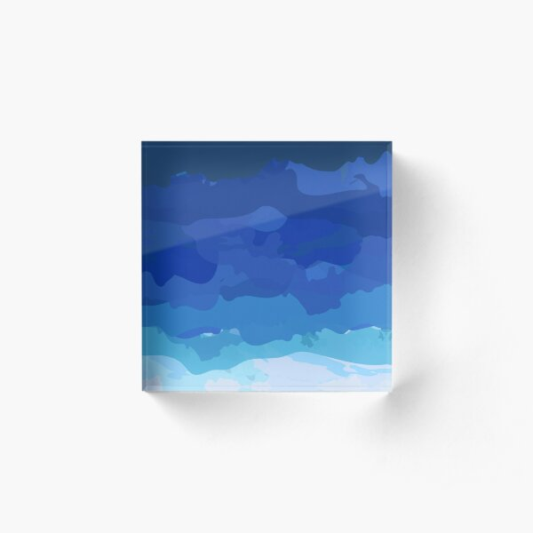 Abstract Ocean Pattern Acrylic Block