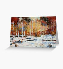 Winter Gold (Card Size) Greeting Card