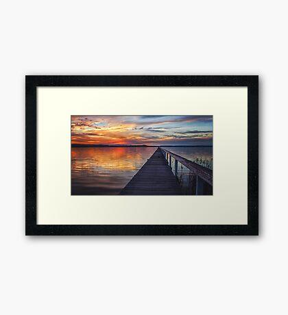 Sunset at Long Jetty Framed Print