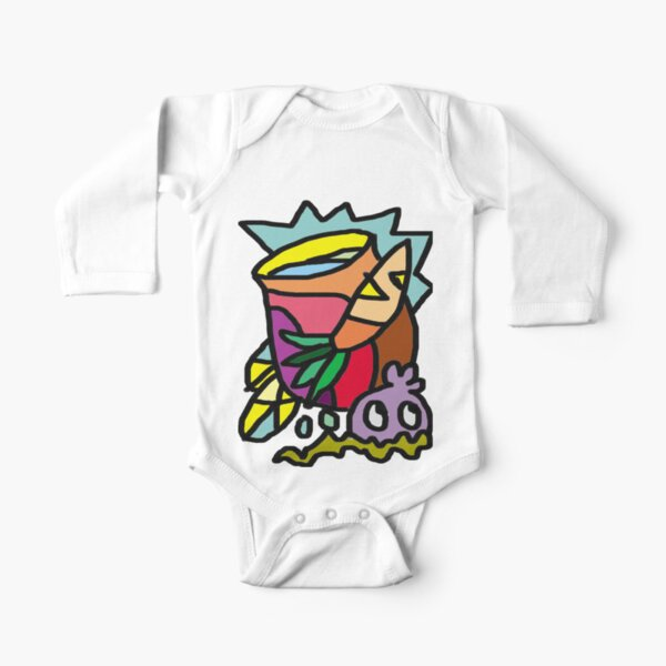 Who goes there? Long Sleeve Baby One-Piece
